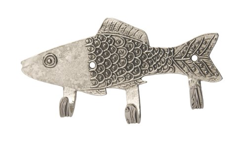 Crosby & Taylor One Good Fish Pewter Key Rack