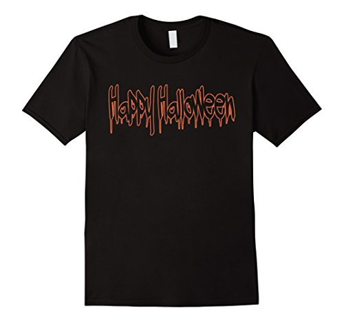 Men's Happy Halloween Costume T-Shirt 3XL Black (Halaween Costume)
