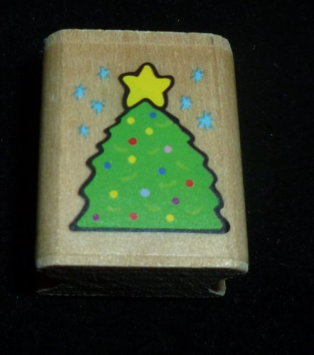 Small Christmas Tree Rubber Stamp - 1