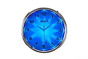 Buy maple39s clock blue led plastic wall clock 12 inch for Led digital wall clock in india