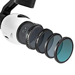 Neewer for DJI OSMO / Inspire 1, Multi-coated 4 Pieces Filter Kit: UV Filter + CPL Filter + ND16 Filter + ND Fader Adjustable ND2-ND400 Filter