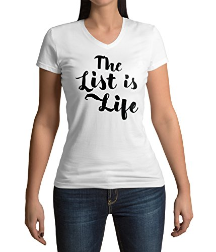 schindlers-list-inspired-the-list-is-life-quote-graphic-femme-v-neck-t-shirt-m