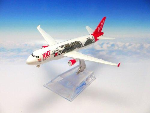 飛行機 模型 ダイキャスト製/航空機:エアアジア/マレーシア 100機導入記念仕様 エアバスA320