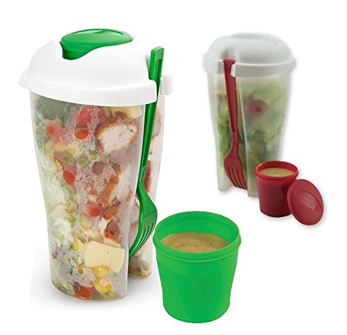 2 Pack Fresh Salad to Go Container Set with