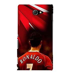PRINTVISA Football Ronaldo Case Cover for Sony Xperia M2