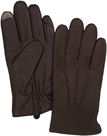 Echo Design Men's Touch Lightweight Glove, Coffee, Large