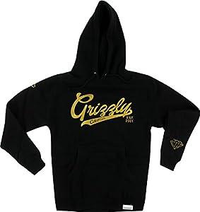 Grizzly Stadium Script HD Black / Gold XX-Large Hoodie