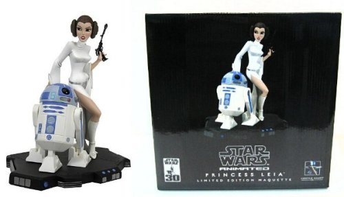Star Wars - Animated Statue : Leia & R2-D2