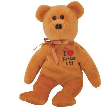 TY Beanie Baby - KANSAS CITY the Bear (I Love Kansas City - Show Exclusive)