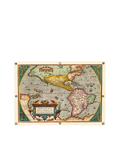 Abraham Ortelius Antique Map Of The Americas (1598) Canvas Wall Mural