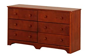 Canwood 6 Drawer Double Dresser - Cherry from Canwood