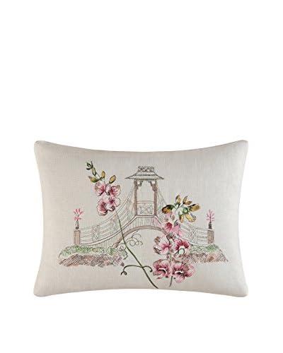 Garden Folly Embroidered Bridge Pillow, Multi