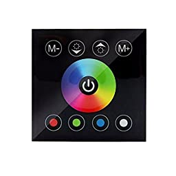 RGBZONE DC12V-24V Wall-mounted Touch Panel RGB Controller For 3528 5050 Multi-color LED Strip Lighting