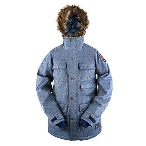 KELLAN(ケラン) BAXTER JKT バクスター ジャケット [着脱可能フードファー付] スノーボードウェア 710102 ネイビー Lサイズ