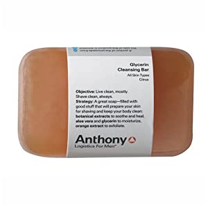 Anthony Logistics Glycerin Cleansing Bar Soap - Citrus by Anthony Logistics for Men
