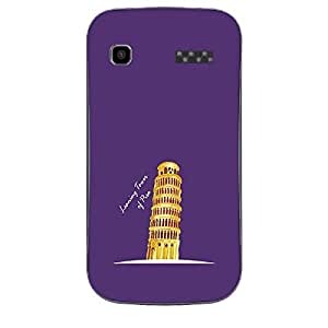 Skin4gadgets Iconic Wonder Leaning Tower of Pisa Colour - Purple Phone Skin for MICROMAX BOLT (A35)