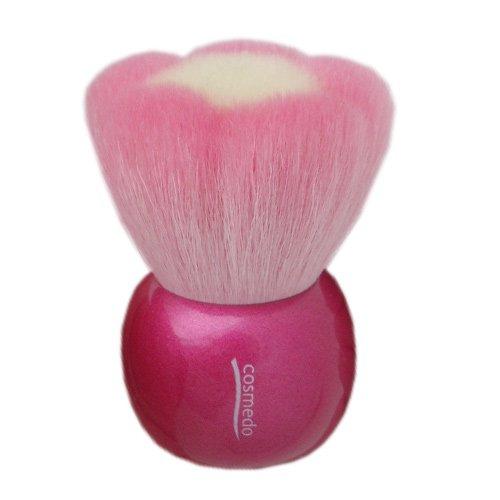 熊野筆メイクブラシ お花型 粗光峰100%スタンドブラシ大 ピンク