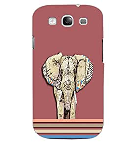 PrintDhaba Elephant D-3702 Back Case Cover for SAMSUNG GALAXY S3 (Multi-Coloured)