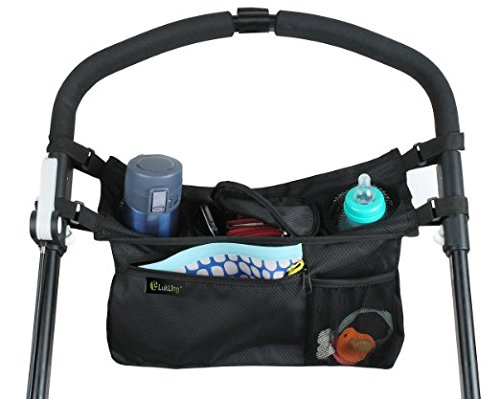 Lukling High Quality and Smart Stroller Organizer Bag, Black