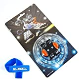 Bluecell Orange Color LED Light Party Shoelaces Lace + Free Bluecell Cable Tie