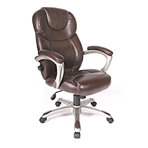 Comfort Products 60-5821 Granton Leather Executive Chair with Adjustable Lumbar Support