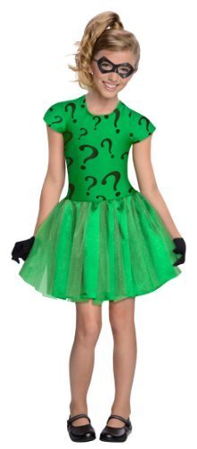 [DC Super Villain Collection Riddler Girl's Costume with Tutu Dress, Toddler 1-2 by Rubies -] (Riddler Costume Girl)
