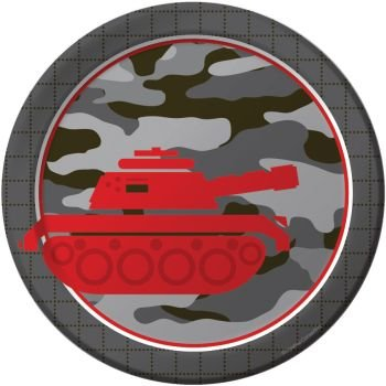 "Operation Camo Luncheon Plate 7"" round (8) Camouflage Party Supplies"