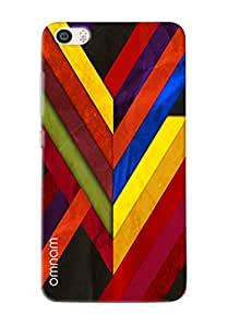 Omnam Colorful Stripes Pattern With Effect Printed Designer Back Cover Case For Xiaomi Mi5