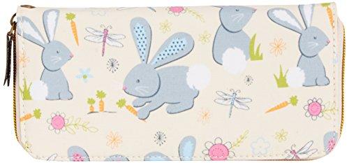 Tiny Love - Romeo Rabbit Print Front Zipper Detail Wallet, Portafoglio da donna, beige (beige), One size