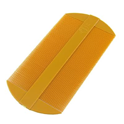 Amber Fine Tooth Portable Two Side Plastic Hair Comb 2 Pcs