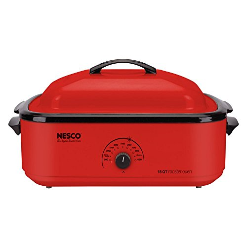 Nesco Roaster Oven 1425 watts 18 qt. Red-Mfg# 4818-12 (12qt Roaster compare prices)