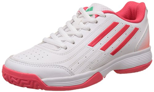 adidas PerformanceSonic Attack - Scarpe da Tennis Unisex - Bambini , Bianco (Weiß (Ftwr White/Shock Red S16/Sun Glow S16)), 28