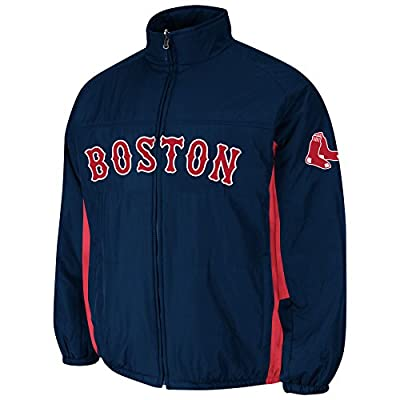 Men's Majestic Boston Redsox Authentic Double Climate On Field Jacket