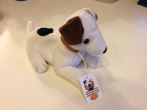 Laying Wishbone the Jack Russell Terrier Dog - Dennys Promo Plush - 1