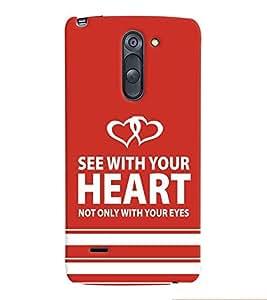 printtech Heart Back Case Cover for LG G3 Stylus::LG G3 Stylus D690N::LG G3 Stylus D690