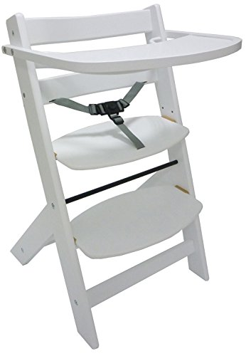 Seggiolone sediolone sgabello sedia in legno bianco