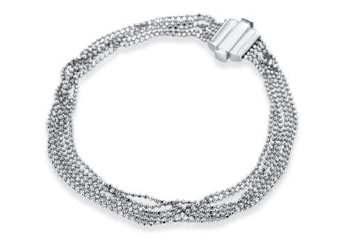 9ct White Gold Ball Chain Bracelet 19cm/7.5