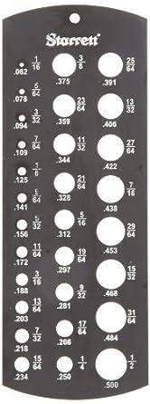 "Starrett 187 Jobbers' Drill Gage, Hardened, Black Matte Finish, 1/16-1/2"" Diameter Range"