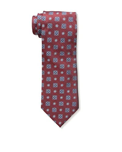 Bruno Piatelli Men's Printed Silk Tie, Red