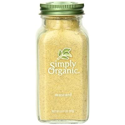 Simply Organic Mustard Seed Ground Certified Organic 3.07-Ounce Container New