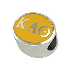 Kappa Alpha Theta Enamel Sorority Bead Charm Fits Most Pandora Style Bracelets. High Quality Bead in Stock for Fast Shipping
