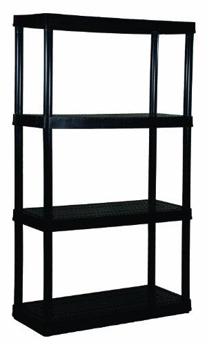 Gracious Living 4-Shelf Medium Duty Shelf Unit (Shelf Unit Plastic compare prices)