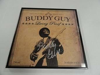 "Buddy Guy Signed Framed ""living Proof"" Lp Album Blues Legend Rare - Autographed CD's"