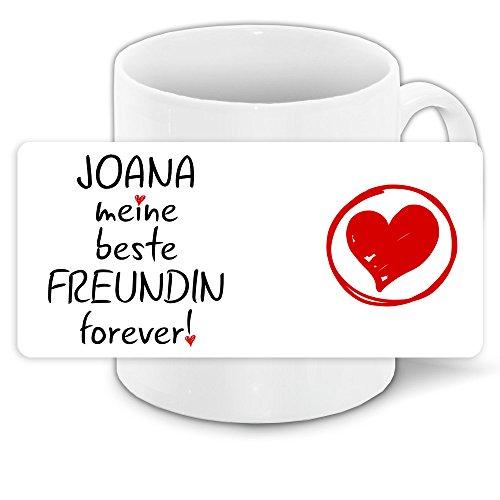 tasse mit namen joana und sch nem motiv meine beste. Black Bedroom Furniture Sets. Home Design Ideas