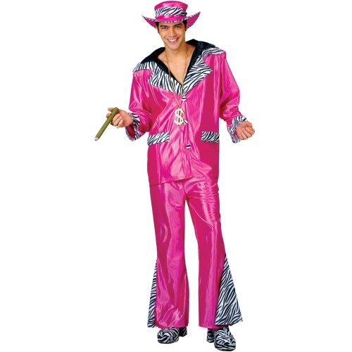 Imagen 1 de Big Daddy Pimp Costume Pink Mens Fancy Dress Small (disfraz)