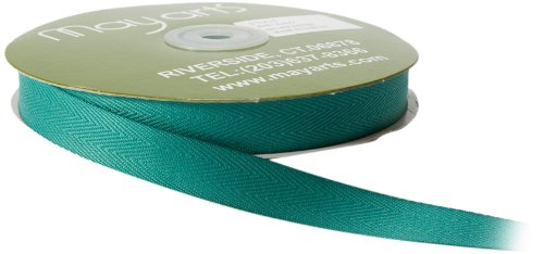 May Arts 5/8-Inch Wide Ribbon, Teal Twill