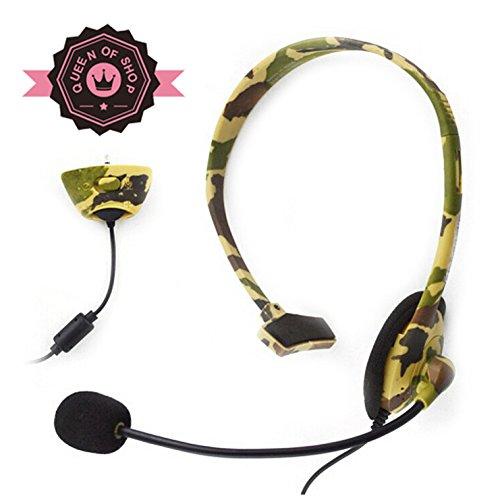 Xb480Xbox Armgreen Headset Headphone + Mic Microphone For Xbox 360 Live