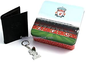 Liverpool Fc Leather Wallet Chrome Keyring Set from Liverpool FC