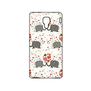 Vibhar printed case back cover for Micromax Canvas Spark Q380 Hathi3