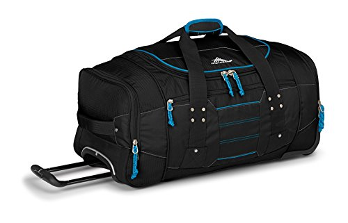 High Sierra Ultimate Access 2.0 Wheeled Duffel Bag, Black/Blue Print, 26-Inch (High Sierra Wheeled Duffel compare prices)